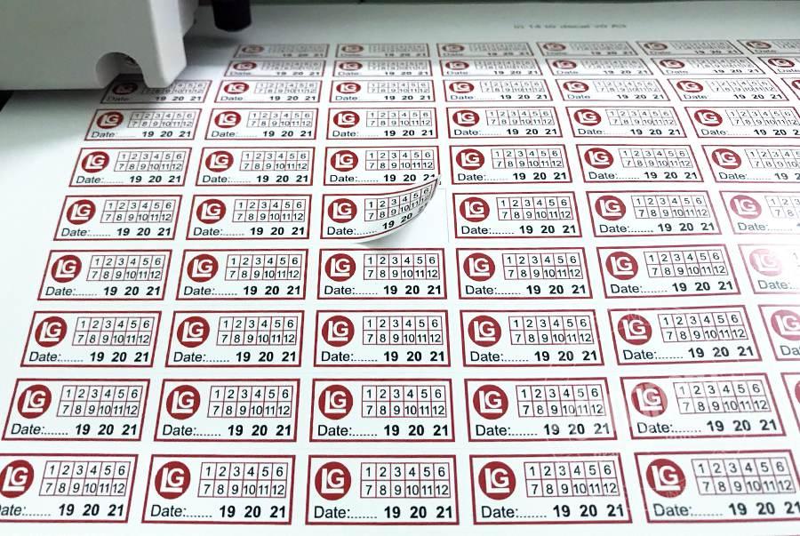 in tem bảo hành số lượng ít bằng máy in laser