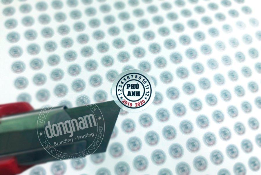In tem bảo hành kích thước nhỏ dán linh kiện thiết bị điện tử